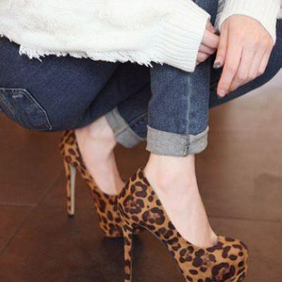Leopard Print Stiletto Pumps
