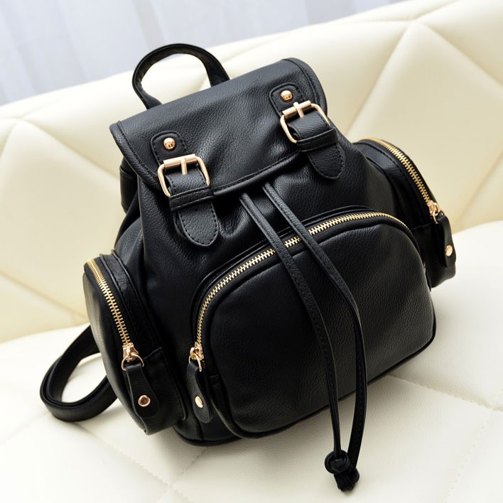 Fashion Black Mini Backpack