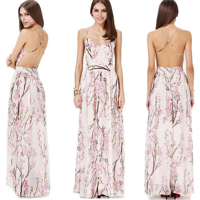 Sexy Women Holiday Summer Boho Long Maxi Evening Party Dress Beach Dresses