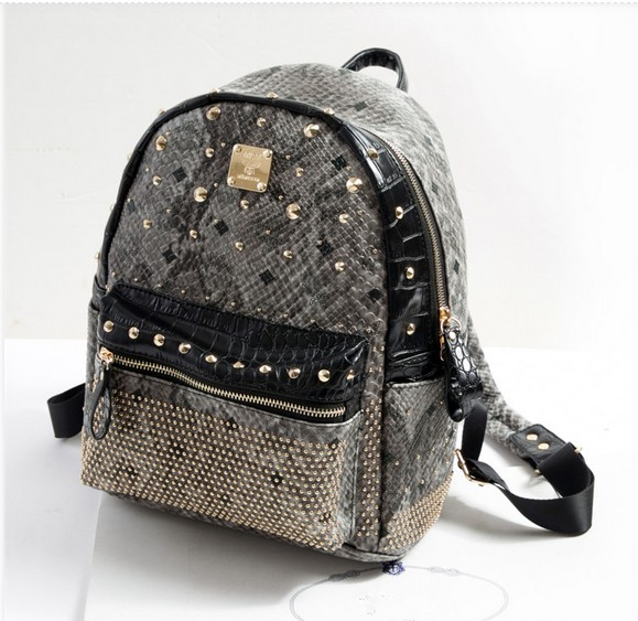 Canvas And Leather Shoulder Straps Backpack