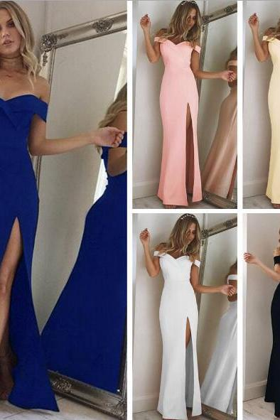 Hot Womens Sexy Slim Fit Cocktail Bodycon Bandage Clubwear Evening Long Dress