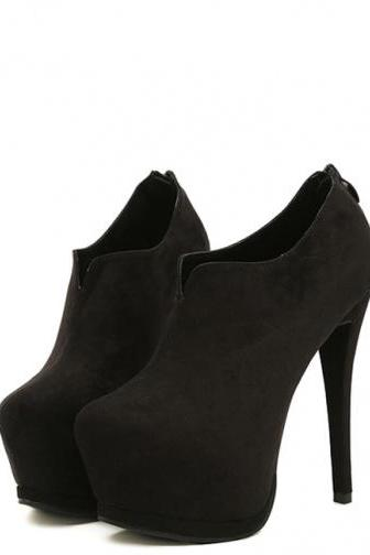 Elegant High Heel Black Booties