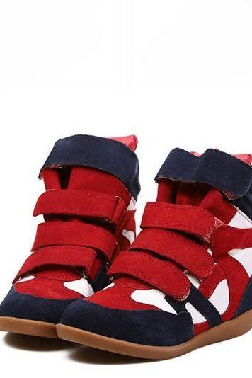 Red Buckle Design Sneakers