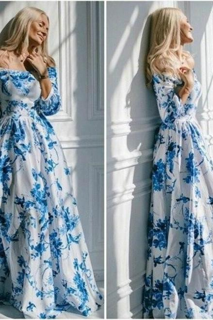 Beautiful Off Shoulder Maxi Dress