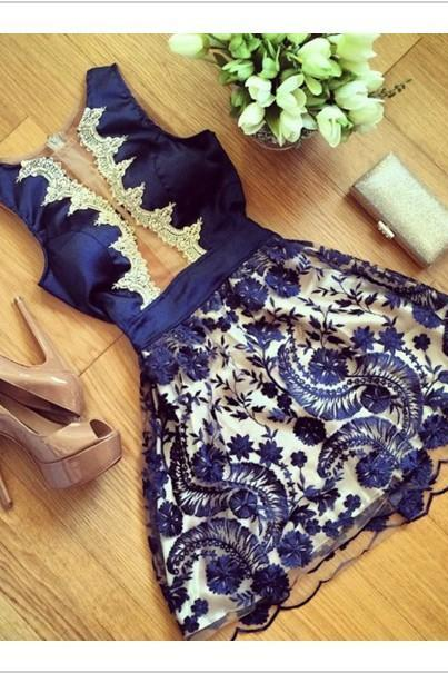 Lace and Chiffon Summer Party Dress