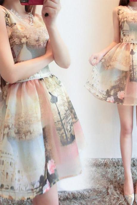 Classy Vintage Style Organza Dress