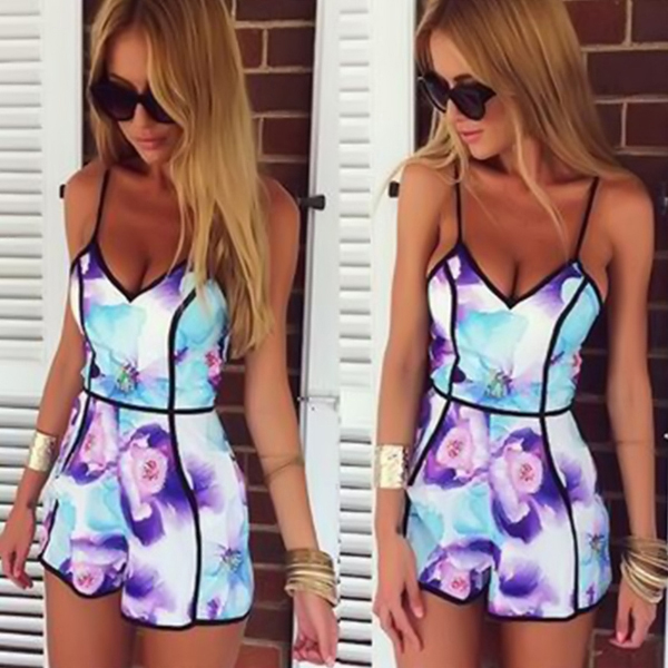 Women Ladies Clubwear V Neck Playsuit Bodycon Party Jumpsuit&Romper Trousers